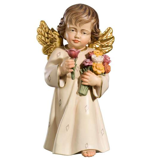 Benedict angel with flowers