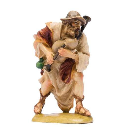 Herdsman with bagpipe - Orig. INSAM Nativity with base