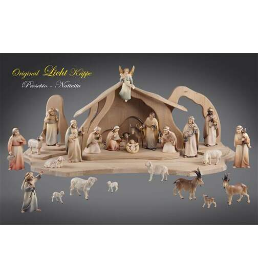 Light Nativita SET 25 figurines with Stable Light - Orig. LIGHT Nativity