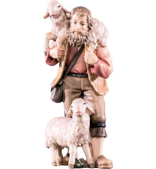 Shepherd with 2 sheep - Tyrolese Nativity