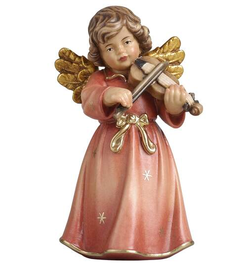 Bell angel standing  with violin