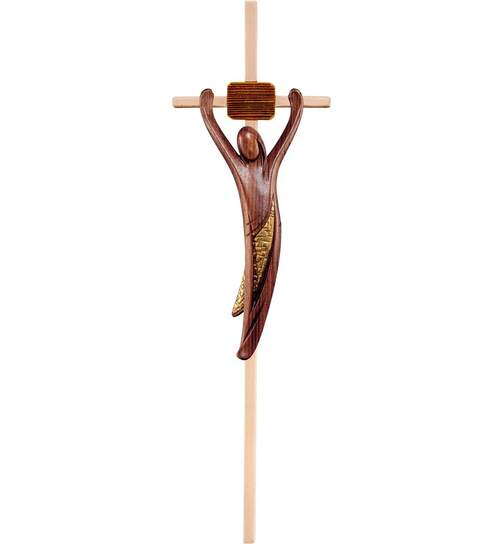 Christ of youth walnut with cross