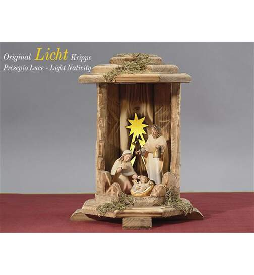 Lanternset Cometstar with Holy Family, Light and Power Supply - Orig. LIGHT Nativity