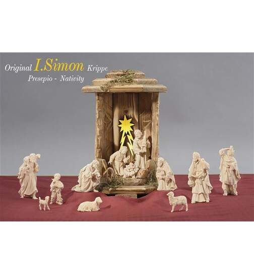 Lanterne Cometstar with 13 Simon nativity figurines+, light and trasformator - Orig. SIMON Nativity