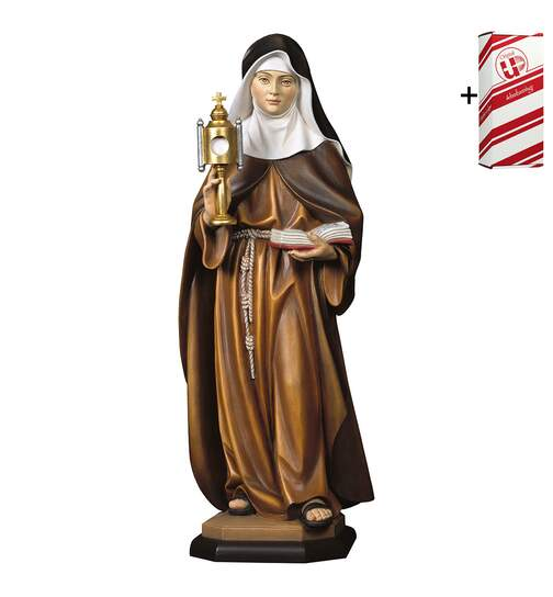 St. Clare of Assisi with ciborium