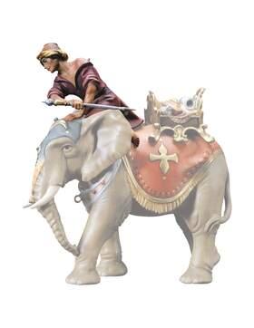 Elefantentreiber Hirte,Treiber f Krippenfiguren Größe 11 cm,Holz bemalt AM 33